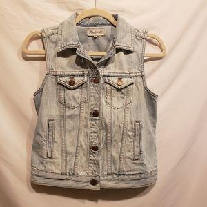 Madewell Blue Jean Denim Chambray Vest 100% Cotton